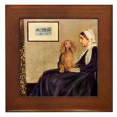 Whistler's /Dachshund(LH-Sabl) Framed Tile