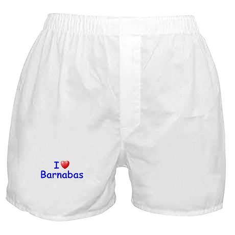 I Love Barnabas (Blue) Boxer Shorts
