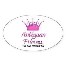 Antiguan Princess Oval Decal