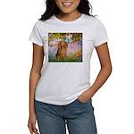 Garden -Dachshund (LH-Sable) Women's T-Shirt