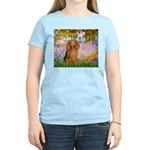 Garden -Dachshund (LH-Sable) Women's Light T-Shirt