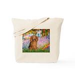 Garden -Dachshund (LH-Sable) Tote Bag