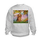 Garden -Dachshund (LH-Sable) Kids Sweatshirt