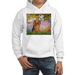 Garden -Dachshund (LH-Sable) Hooded Sweatshirt
