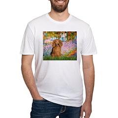 Garden -Dachshund (LH-Sable) Fitted T-Shirt