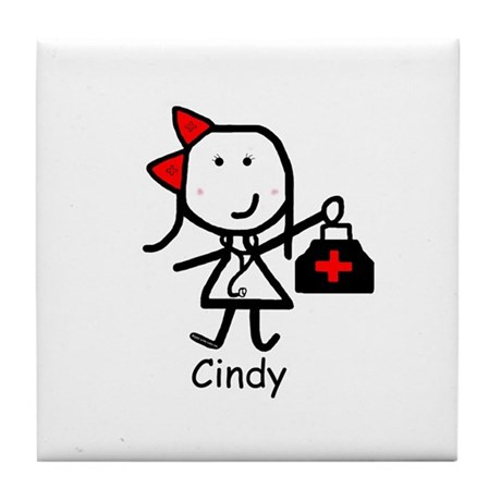 Medical - Cindy Tile Coaster