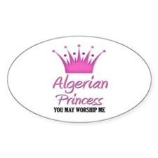 Algerian Princess Oval Decal