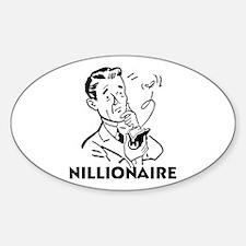 Nillionaire Oval Decal