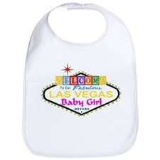 Our Fabulous Las Vegas Baby Girl Blocks Bib