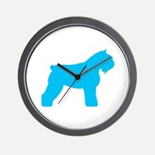 Blue Bouvier Wall Clock