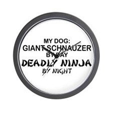 Giant Schnauzer Deadly Ninja Wall Clock