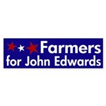 Farmers for John Edwards bumpersticker