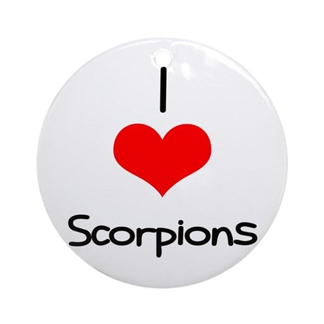 I Love (heart) Scorpions Ornament (Round)