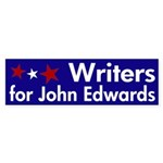 Writers for John Edwards bumpersticker