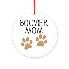 Big Paws Bouvier Mom Ornament (Round)
