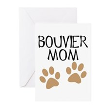 Big Paws Bouvier Mom Greeting Cards (Pk of 10)