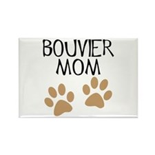 Big Paws Bouvier Mom Rectangle Magnet