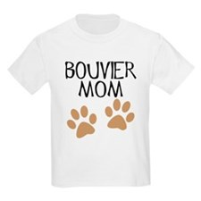 Big Paws Bouvier Mom T-Shirt
