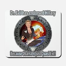 Dr. Evil For Hillary Mousepad