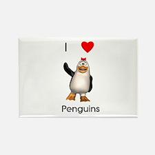 I love penguins (girl) Rectangle Magnet