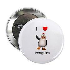 """I love penguins (girl) 2.25"""" Button (10 pack)"""