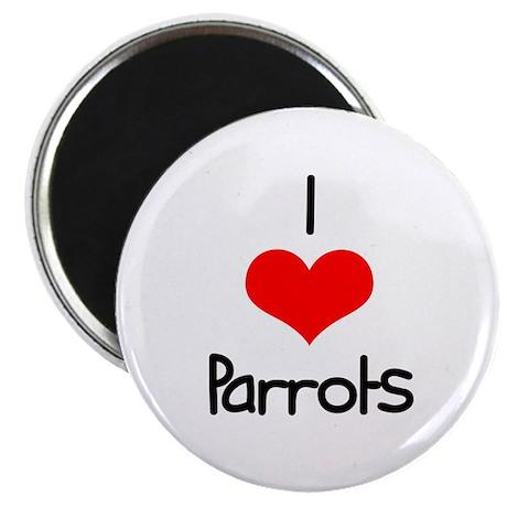 "I Love (heart) Parrots 2.25"" Magnet (100 pack)"