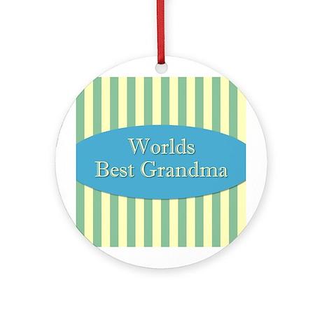 Worlds Best Grandma Ornament (Round)