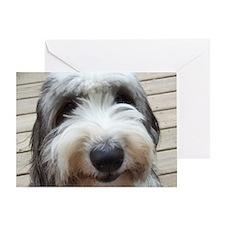 Smile Old English Sheepdog Greeting Card