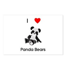 I love panda bears Postcards (Package of 8)