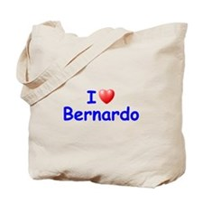 I Love Bernardo (Blue) Tote Bag