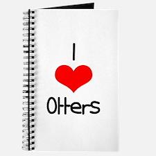 I Love (heart) Otters Journal