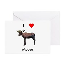 I love moose Greeting Cards (Pk of 10)