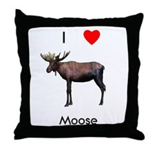 I love moose Throw Pillow