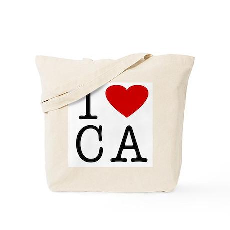 I Love California (CA) Tote Bag