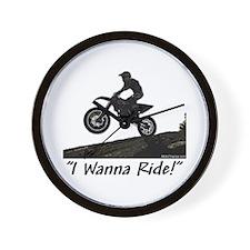 """""""I Wanna Ride!"""" Wall Clock"""