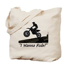 """I Wanna Ride!"" Tote Bag"