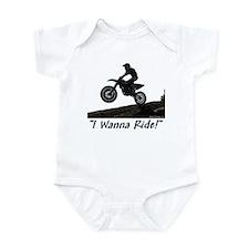 """""""I Wanna Ride!"""" Infant Bodysuit"""