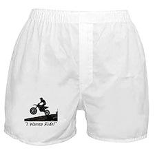 """I Wanna Ride!"" Boxer Shorts"