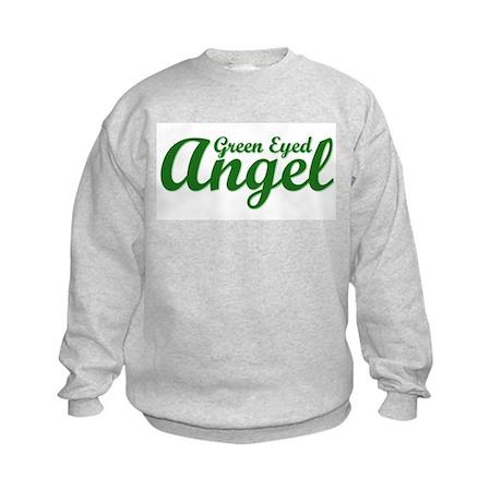 Green Eyed Angel Kids Sweatshirt