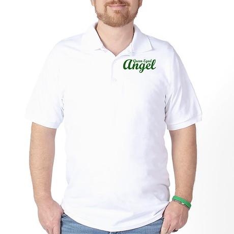 Green Eyed Angel Golf Shirt