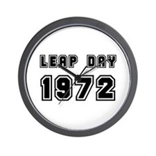 LEAP DAY 1972 Wall Clock