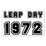 LEAP DAY 1972 Rectangle Sticker