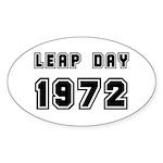LEAP DAY 1972 Oval Sticker