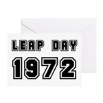 LEAP DAY 1972 Greeting Card