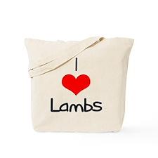 I Love (heart) Lambs Tote Bag