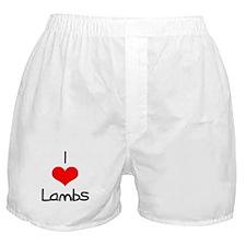 I Love (heart) Lambs Boxer Shorts