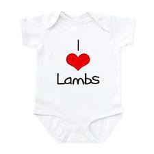 I Love (heart) Lambs Infant Bodysuit