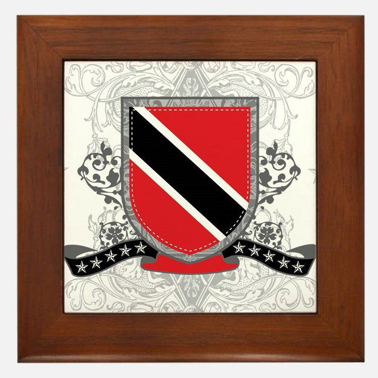 Trinidad and Tobago Shield Framed Tile