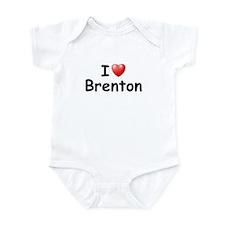 I Love Brenton (Black) Infant Bodysuit