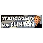 Stargazers for Clinton bumper sticker